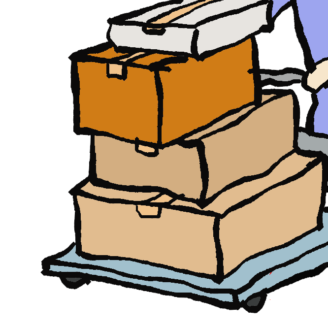 【運ぶ】物や人をある場所から他の場所へ移す。移動させる。