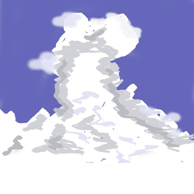 【積乱雲】十種雲形(雲級)の一。垂直に高く盛り上がり、大きな塔のように見える雲。上部には氷晶ができ、広がって朝顔状や鉄床(かなとこ)状になることが多い。雷雨を伴うことが多く、ときには雹(ひょう)を降らせる。略号はCb。入道雲。雷雲。