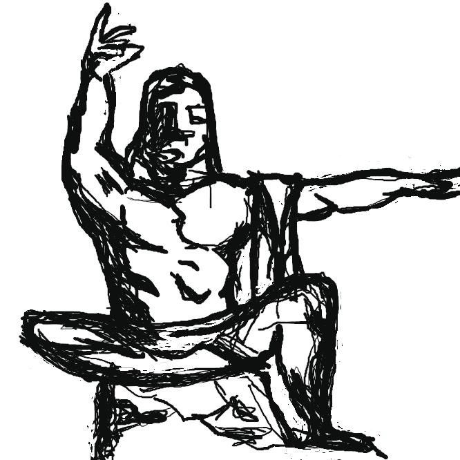 【平和祈念像】長崎県長崎市の平和公園内にある像。昭和30年(1955)北村西望により制作。高さ9.7メートルの男性座像で、天を指す右手は原爆の脅威を、水平に伸びる左手は平和を表す。