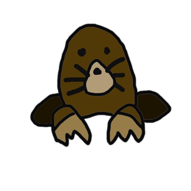 【土竜】モグラ科の哺乳類。体長約15センチで尾は短い。毛は黒褐色のビロード状。地中にすみ、目は退化している。前足は大きくシャベル状で、地表近くをトンネルを掘って進み、ミミズなどを食べる。本州・四国・九州などに分布し、アズマモグラともいう。田鼠(でんそ)。もぐらもち。むぐら。うぐら。うごろもち。