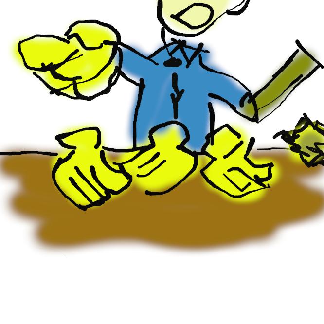 【バナナの叩き売り】かつて露天商、的屋が行う、独特の口上を述べながら客を引き寄せてバナナを露天で売る手法。