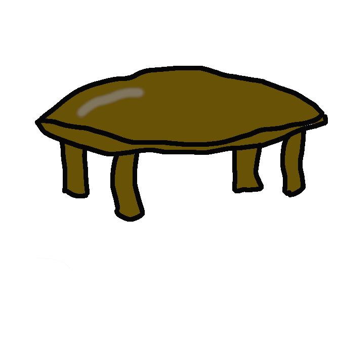 【卓袱台】和室で用いる、足の短い食卓。