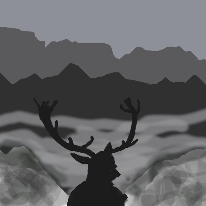 【蝦夷鹿】シカの一種。北海道の森林や原野に生息し、やや大形で、体高約1メートル。ニホンジカの亜種とされることもある。