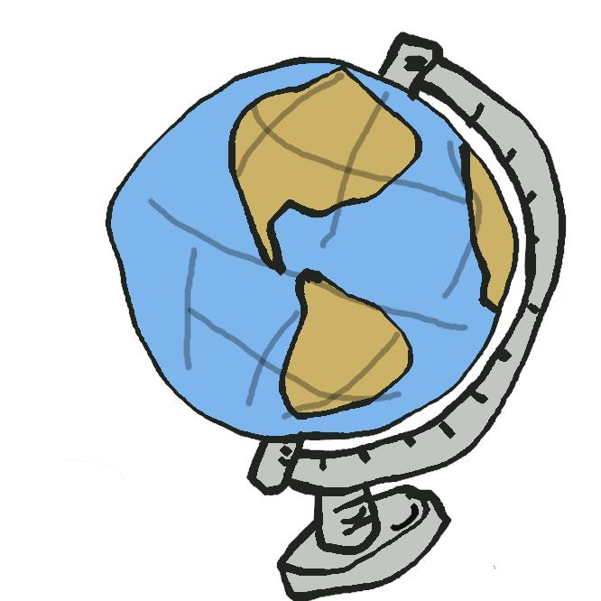 【地球儀】地球をかたどって作った模型。球の表面に経線・緯線、水陸分布などが記入され、両極を通る軸の周りを回転するようにしてある。