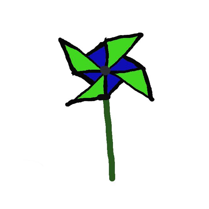 【風車】羽根車に風を受けて回転し、風力から動力を得るための装置。発電・製粉・風速計などに使われる。