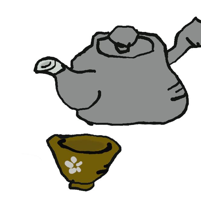 【茶道具】茶事を行ううえで必要な道具。装飾用具(掛け物・花入れなど)・点茶用具(茶入れ・茶碗・茶杓など)・懐石用具(折敷(おしき)・四つ碗など)・水屋用具(水桶(みずおけ)など)・待合用具(円座など)の五つに大別される。