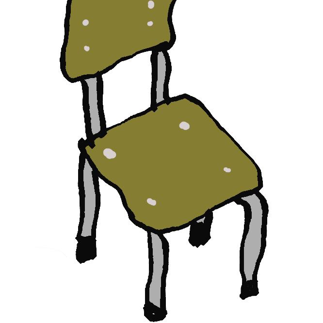 【椅子】腰掛けて座るための家具。腰掛け。