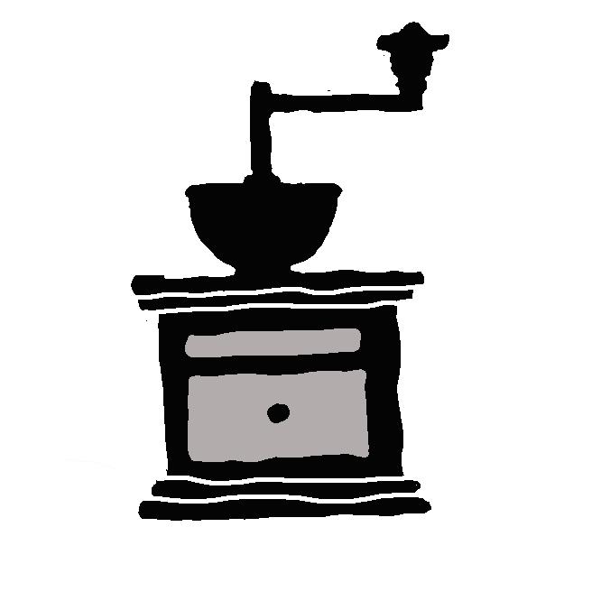 焙煎されたコーヒー豆を粉砕するための器具である。家庭用のものを指す名称で、業務用はグラインダー と呼ばれることが多い。仮に焙煎豆のまま抽出しても、そのコーヒーエキスの抽出効率は低く、香味も乏しい。焙煎豆を細かく砕くことで抽出効率も高まり抽出速度も増す。