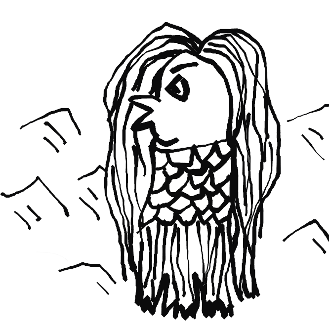 江戸後期の刷り物(瓦版)を出典とする妖怪。海中より現れ、豊作と疫病の流行を予言し、自らの姿を描き写して人々に見せるようにと告げ、また海中へ帰っていったと伝えられる。瓦版には、長い頭髪のようなもの、菱形の目のようなもの、嘴のようなもの、鱗のような模様、三つ又の足あるいは鰭のようなものを有した、直立するアマビエの図が添えられている。