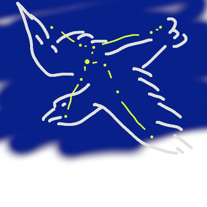 【鷲座:Aquila】天の赤道上にある星座。天の川の中にあり、α(アルファ)星アルタイルは七夕の牽牛(けんぎゅう)星として親しまれ、光度0.8等。9月中旬の午後8時ごろ南中する。