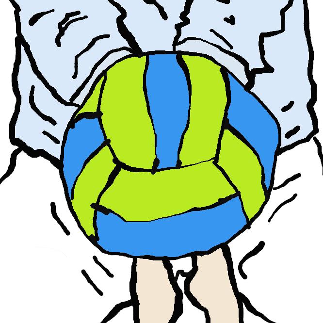 相手選手のサーブやスパイクなどの攻撃を受けて、ボールを地面に落とさないようにするプレーです。 また、セッターが良い球を上げやすいように、セッターの位置へと的確にボールを返すことがレシーブでは求められます。