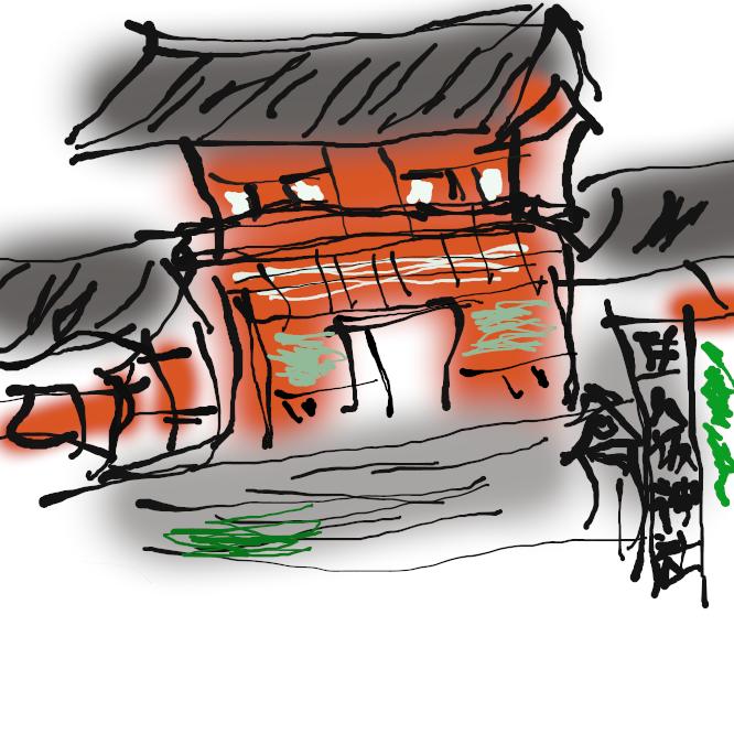 【八坂神社】京都府京都市東山区祇園町北側にある神社。二十二社の一社。旧社格は官幣大社で、現在は神社本庁の別表神社。 全国にある八坂神社や素戔嗚尊を祭神とする関連神社の総本社であると主張している。通称として祇園さんとも呼ばれる。祇園祭の胴元としても知られる。