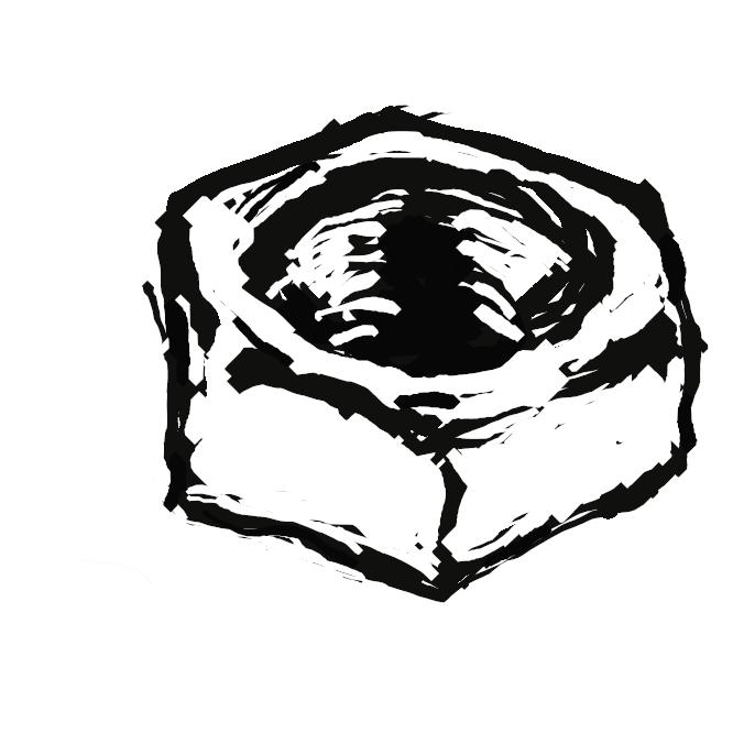 ボルトと組み合わせて、物を締め付けるのに用いる機械部品。ふつう外形が六角形で、中央の穴の内面に雌(め)ねじが切ってある。