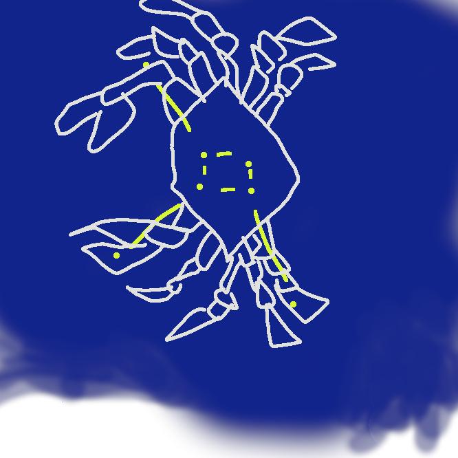 【蟹座】黄道十二星座の一。双子座と獅子(しし)座の間にあり、3月下旬の午後8時ごろ南中する。中央に散開星団プレセペがある。
