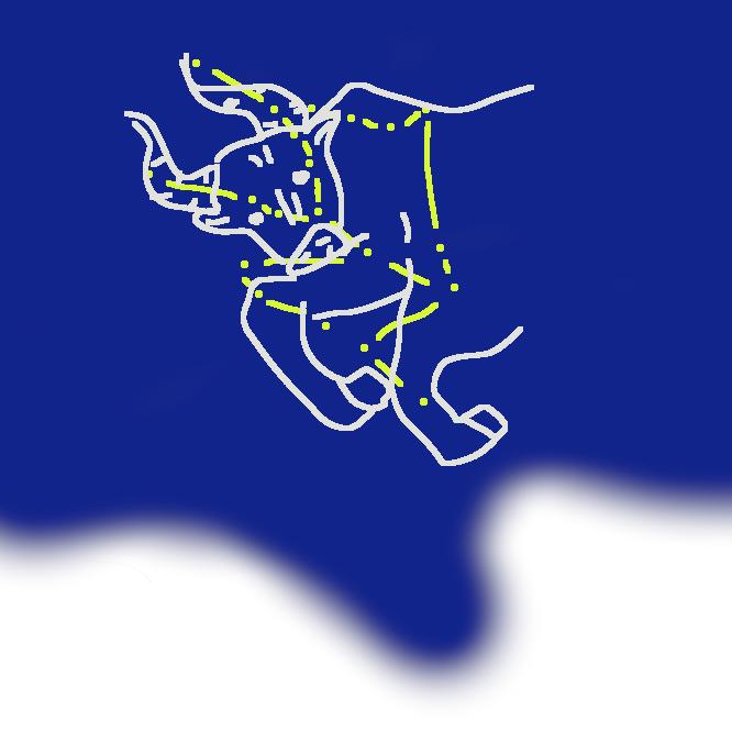 【牡牛座】黄道十二星座の一。1月下旬の午後8時ごろ南中する。α(アルファ)星のアルデバランは光度0.8等。プレアデス星団(昴(すばる))・ヒアデス星団・蟹(かに)星雲などを含む。