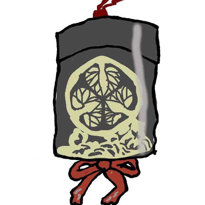 【印籠】腰に下げる長円筒形の三重ないし五重の小箱。室町時代に印・印肉を入れていた容器で、江戸時代には薬を入れるようになった。表面に漆を塗り、蒔絵(まきえ)・螺鈿(らでん)・堆朱(ついしゅ)などの細工を施し、緒には緒締め・根付がある。