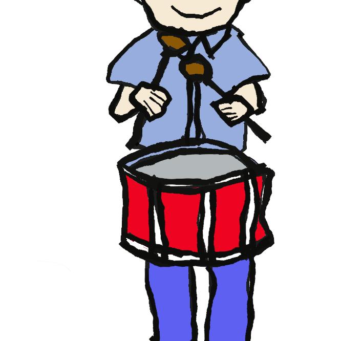 【小太鼓】小形の太鼓。