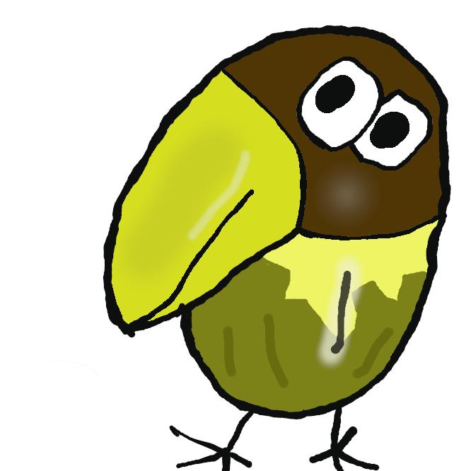 森永製菓の菓子・チョコボールのマスコットキャラクターである。鳥がモチーフであり、公式設定では「架空の鳥」とされている。キャラクターデザインに同存化表現を取り入れ、横向きだが目が正面に2つ並んでいるのが特徴。