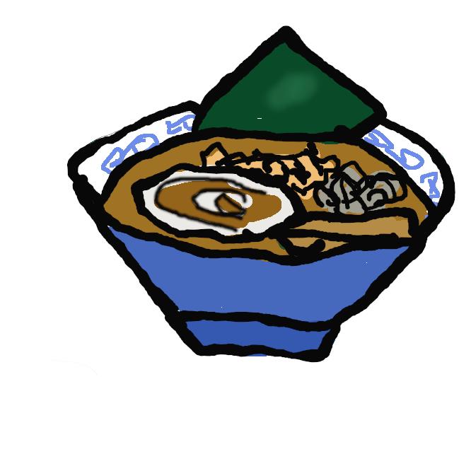 【旭川ラーメン】北海道特産の魚介類でとった醤油スープをベースとしている。麺は、加水率の低い細めの縮れ麺でスープとよくなじむ。
