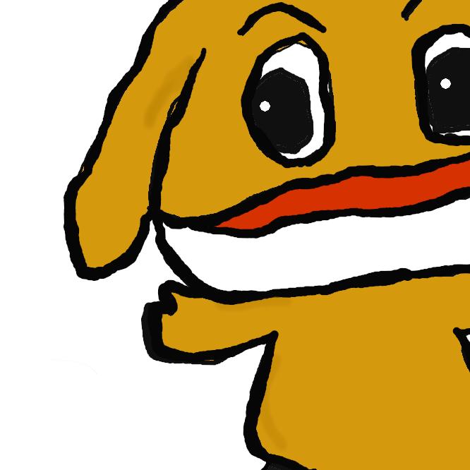 番組ロゴに鎮座する鼻が利かない犬です。別の名をヒロシといいます。