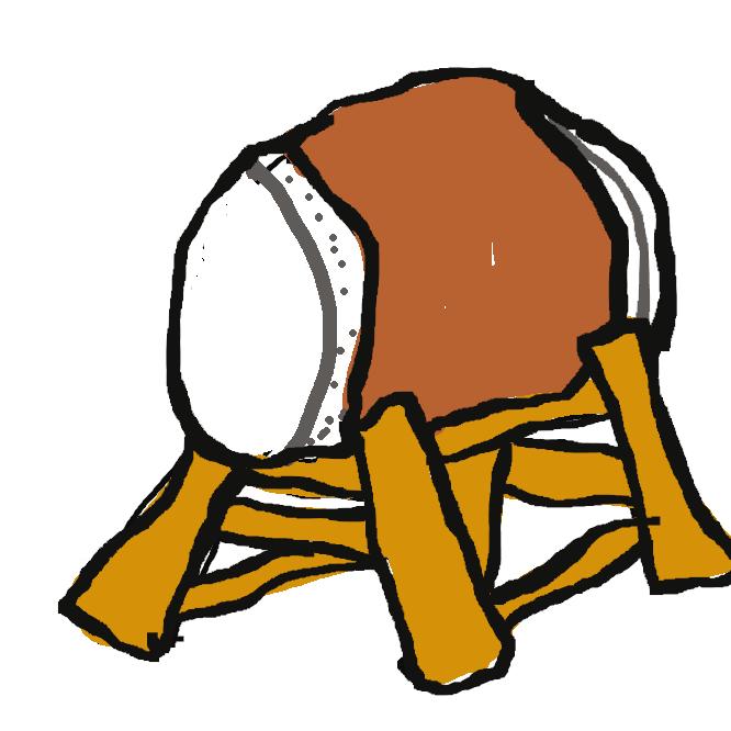 【和太鼓】日本で伝統的に使われる太鼓の総称。大太鼓(だだいこ)・楽太鼓・締太鼓などがある。