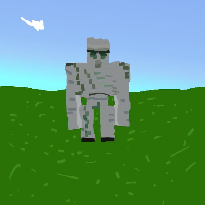 Minecraftに登場するMobで、倒されると鉄とポピーをドロップします。自分でスポーンさせ、倒して鉄を得るのは効率が悪いですが、アイアンゴーレムトラップはこのドロップ品を利用しています。