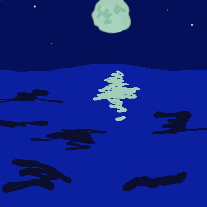 【月夜】月のある夜。月光の明るい夜。また、月。月光。つくよ。