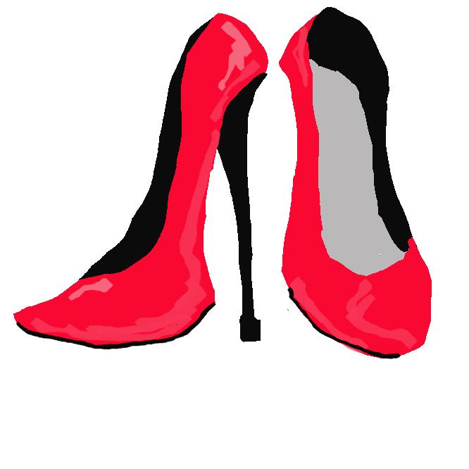 一般に、7センチ以上の婦人靴のかかと。また、かかとの高い靴。