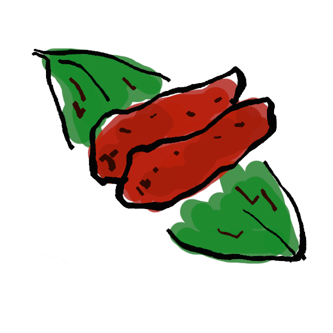 【辛子明太子】唐辛子で味をつけた塩漬けの鱈子(たらこ)。