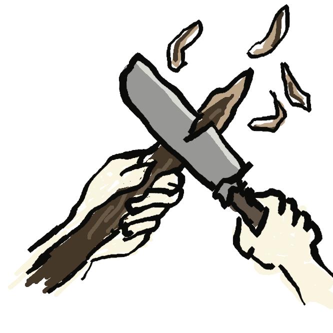 【笹掻き】ゴボウなどを笹の葉のように細く薄くそぎ切ること。また、切ったもの。笹吹き。ささがし。