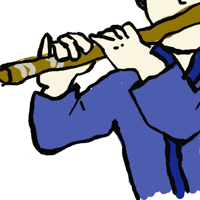 【横笛】管を横に構えて吹く笛の総称。日本では、神楽笛・竜笛(りゅうてき)・高麗笛(こまぶえ)・篠笛(しのぶえ)・能管などをいう。おうてき。ようじょう。