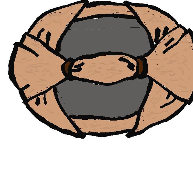 【馬連】木版刷りの用具で、版木に当てた紙の上をこすって絵の具を紙に付着させるもの。撚(よ)りひもなどを渦巻きにした芯(しん)を皮で押さえ、さらに竹の皮で包み、滑りをよくしたもの。