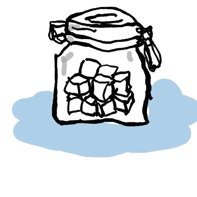 【角砂糖】小さな立方形に固めた白砂糖。
