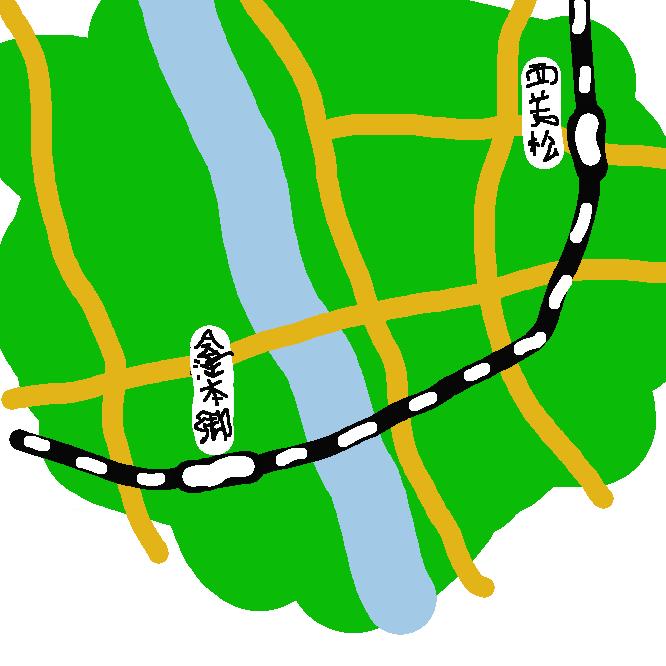 【会津本郷駅】福島県会津若松市北会津町上米塚(かみよねづか)にある、東日本旅客鉄道(JR東日本)只見線の駅である。
