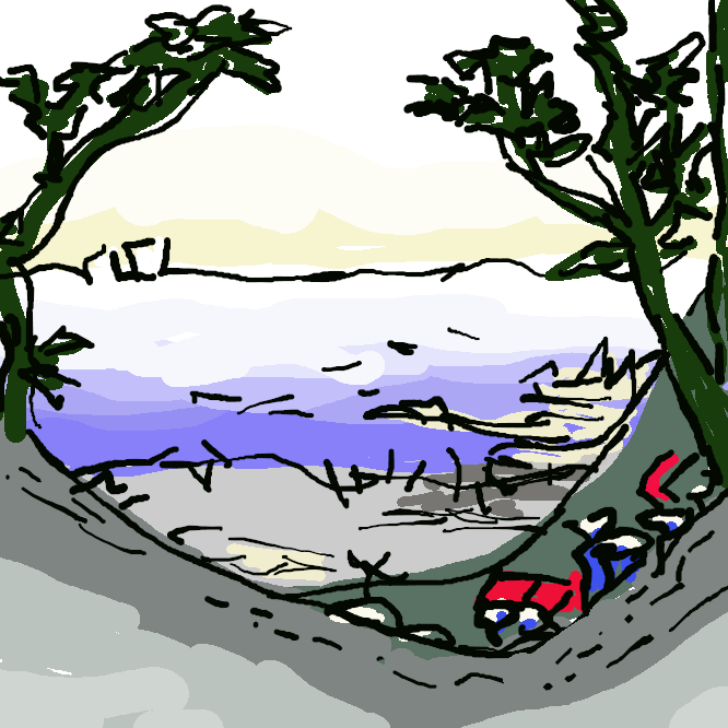 【白須賀宿】東海道五十三次の32番目の宿場である。現在の静岡県湖西市白須賀。遠江国最西端で、且つ、現在の47都道府県でも静岡県最西端の宿場町である。西の加宿境宿で売られていた柏餅は、白須賀宿の名物として有名だった。