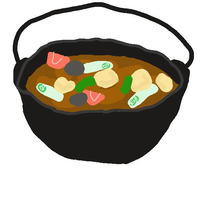 【芋煮】日本の東北地方各地で行われる季節行事で、秋に河川敷などの野外にグループで集まり、サトイモを使った鍋料理などを作って食べる行事である。バーベキューと併行して行われることが多い。