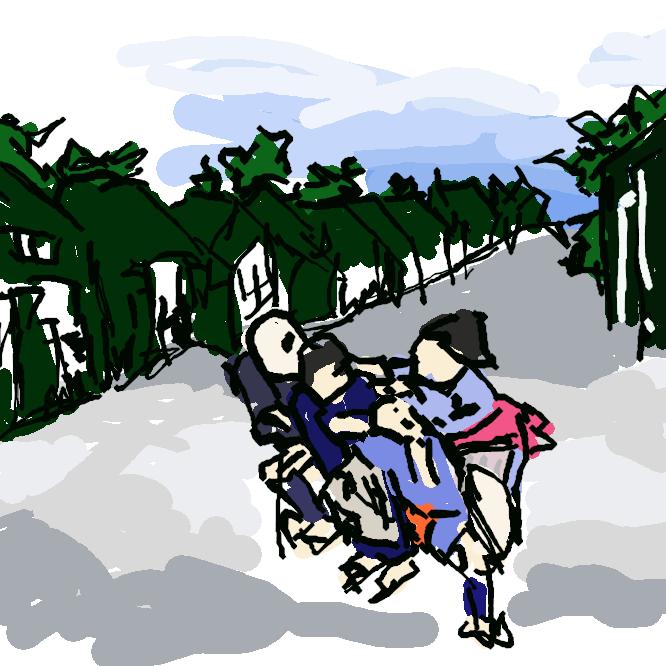 【御油宿】東海道五十三次の35番目の宿場である。現在の愛知県豊川市御油町に所在する。街道の面影を残す松並木(御油の松並木)が美しいことから観光地になっている。