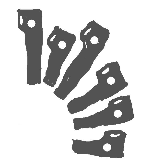 登山用具の一。岩壁や氷壁を登攀する際、岩の割れ目や氷に打ち込む金属製のくさび。手がかりや足場とし、また頭部の穴にカラビナをかけ、ザイルを通して確保の支点とする。ピトン。アイスハーケン。
