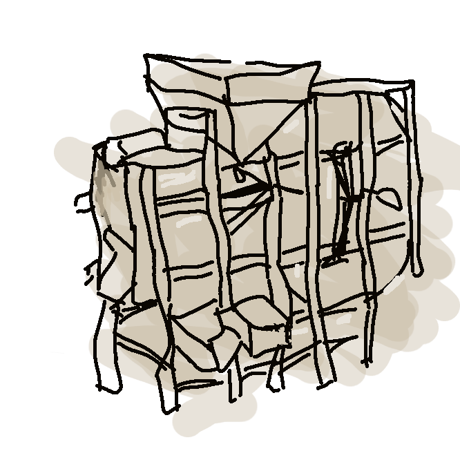 【唐箕】穀粒を選別する装置。箱形の胴につけた羽根車で風を起こし、その力を利用して秕(しいな)・籾殻(もみがら)・ごみなどを吹き飛ばして、穀粒を下に残す。