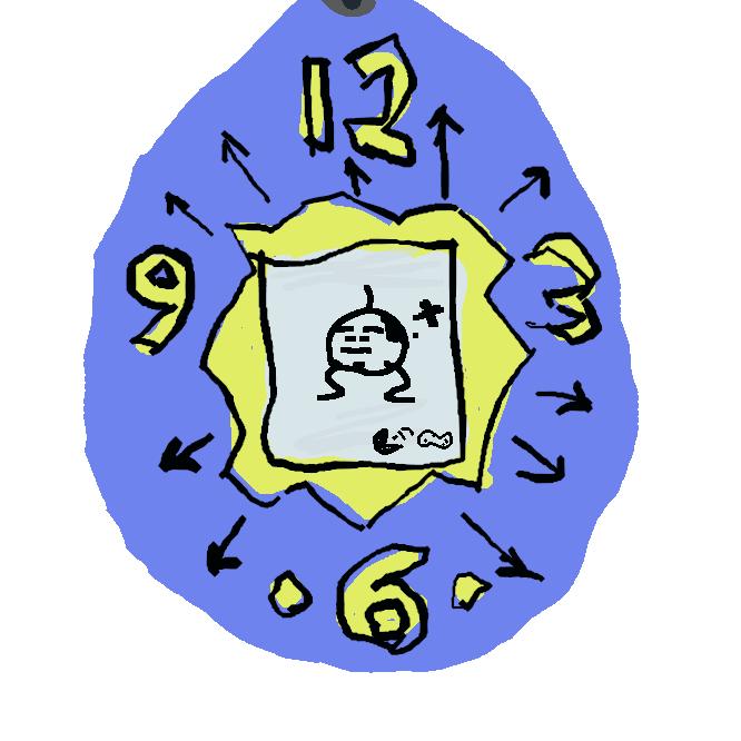たまごっちは1996年11月23日にバンダイから発売されたキーチェーンゲームであり、登場するキャラクターのことでもある。名称の由来は「たまご(Tamago)」と「ウオッチ(Watch、腕時計)。