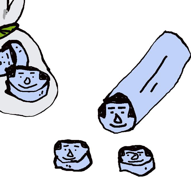 【金太郎あめ】細長い飴のどこを輪切りにしても断面に金太郎の顔が現れる飴。または同種の構造をもった飴細工のこと。