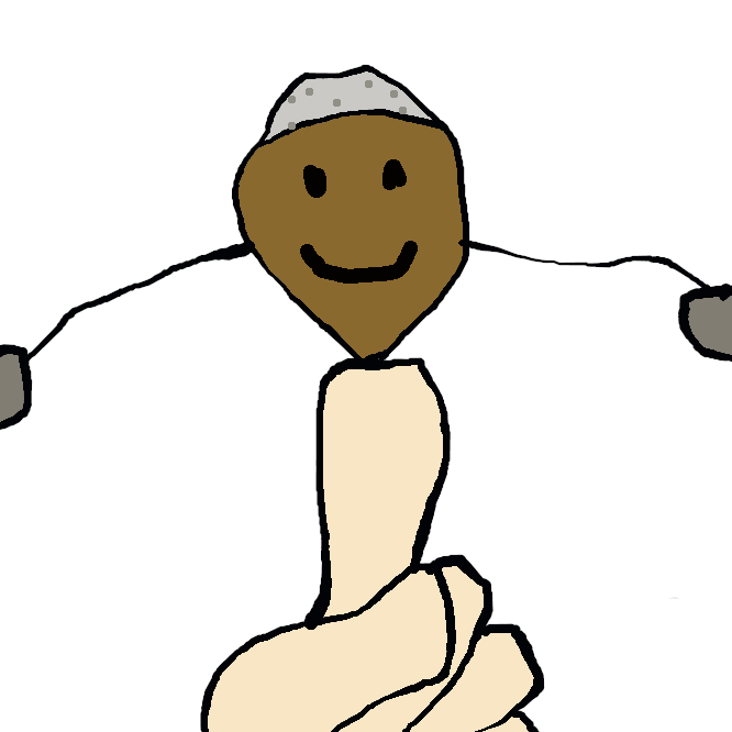 【弥次郎兵衛】玩具の一。短い棒に人形をつけ、その両手を長くして端に重りをつけ、中心の棒を支えるだけでうまく釣り合いがとれて倒れないようにこしらえたもの。釣り合い人形。
