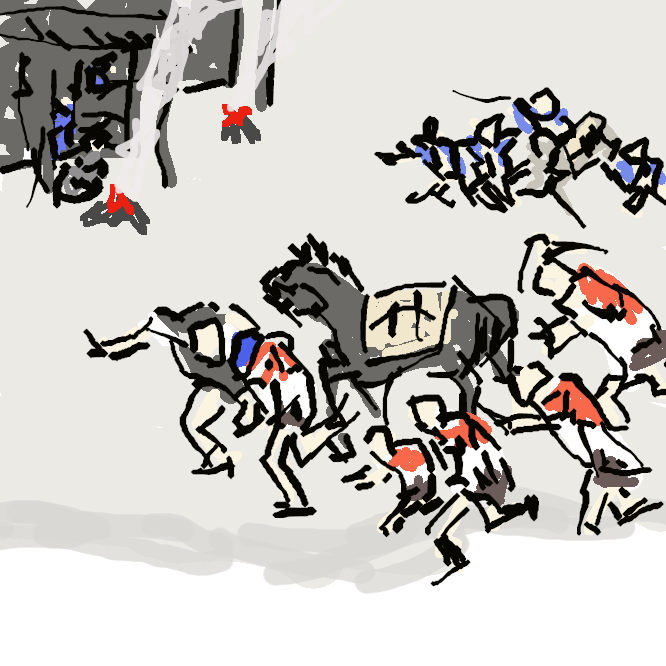 【宮宿】東海道五十三次の41番目の宿場である。中山道垂井宿にいたる脇街道・美濃路(美濃街道)や佐屋街道との分岐点でもあった。一般には宮の宿と呼ばれることが多かったが、幕府や尾張藩の公文書では熱田宿と書かれている。