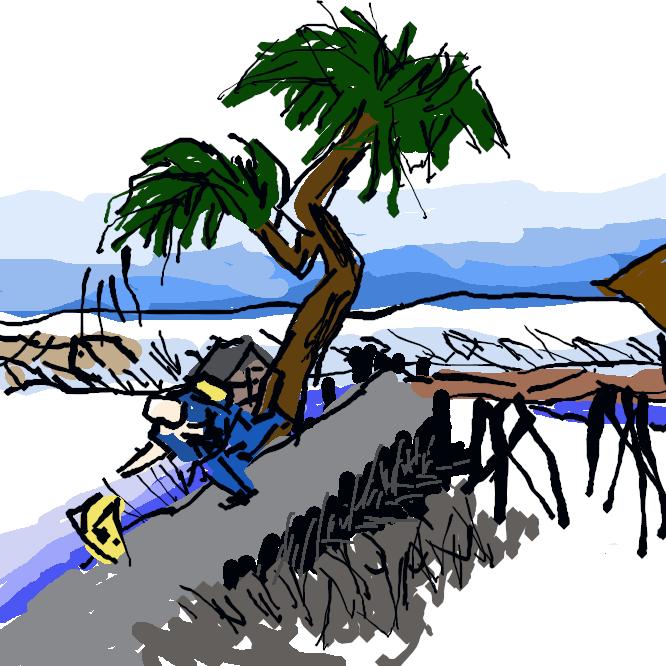 【四日市宿】東海道五十三次の43番目の宿場である[1]。現在は三重県四日市市。幕府直轄の天領であり[1]、代官所が置かれていた。宮宿との間に「十里の渡し」があった。