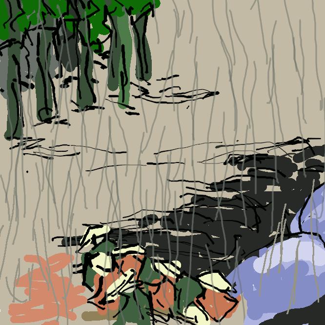 【土山宿】近江国甲賀郡にあった東海道五十三次の49番目の宿場である。現在の滋賀県甲賀市土山町北土山および土山町南土山にあたる。