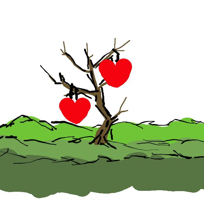 ハートがなる木。