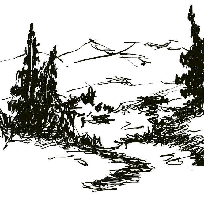 【森林】樹木、特に高木が群生して大きな面積を占めている所。また、その植物群落。