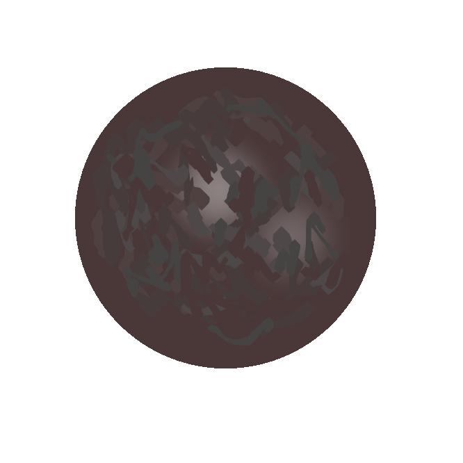 【砲丸】陸上競技の砲丸投げに用いる金属球。