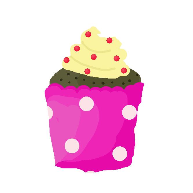 カップ形の型で焼いた洋菓子。