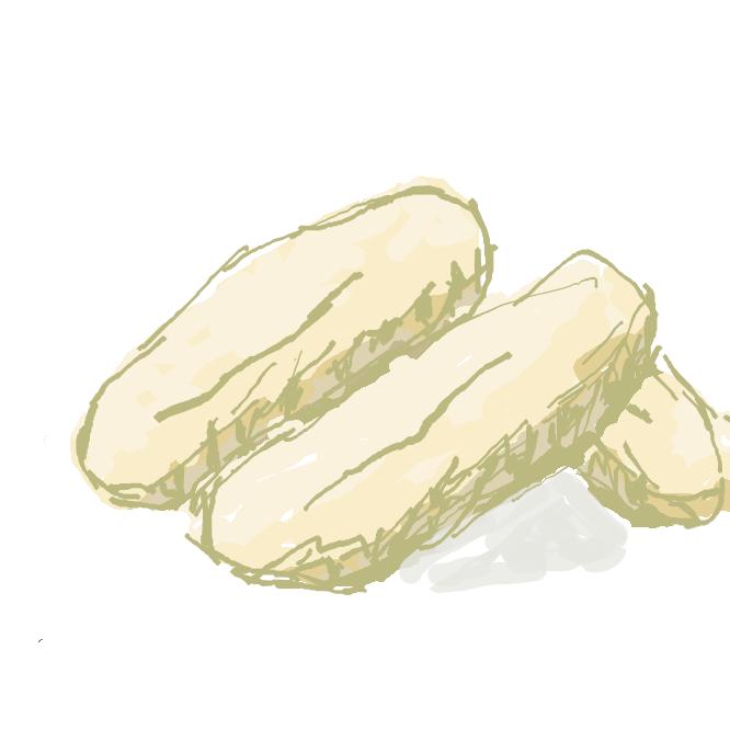 小麦粉にラードと砂糖を加えて焼いた、沖縄県の名菓。